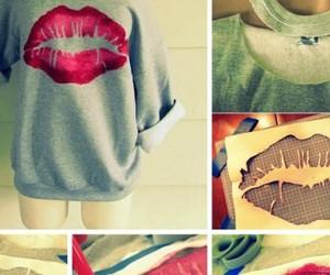 art, lips, and cool image