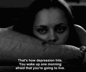 black, depression, and white image