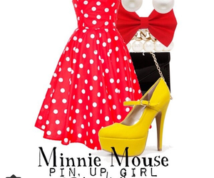 disney, minnie mouse, and pin up girl image