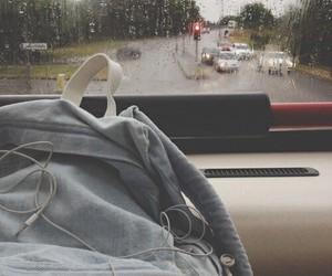 rain, music, and bag image