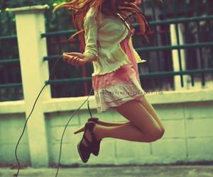 girl, jump, and fun image