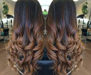 brown and hair image