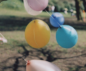 balloons, nature, and vintage image