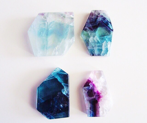 blue, colourful, and crystals image