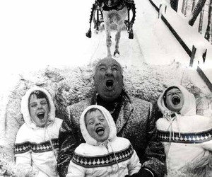 alfred hitchcock, Hitchcock, and snow image