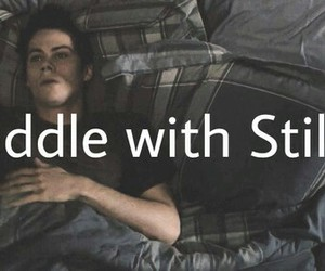 teen wolf, cuddle, and stiles image