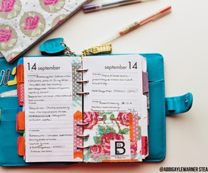 filofax, planner, and girly photography image