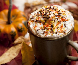 autumn, pumpkin, and starbucks image