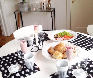 breakfast, coffee, and FRUiTS image