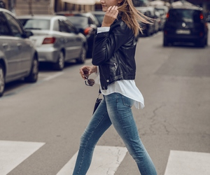 jeans, street style, and denim style image