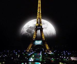 night, amazing, and paris image