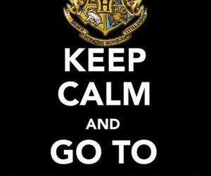hogwarts, keep calm, and harry potter image