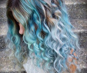 blue, ombre hair, and hair image