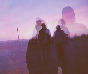 purple, grunge, and couple image