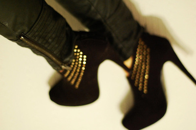boots, gold, and heels image