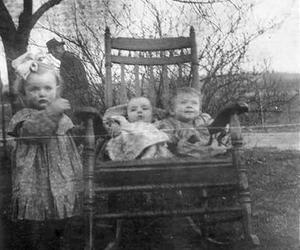 chair, children, and old image