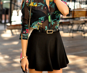 skirt, bluouse, and hapatime image