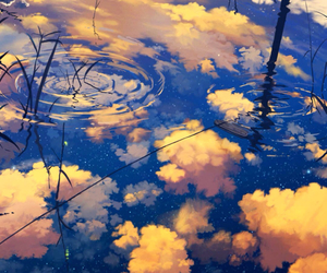 clouds, water, and sky image