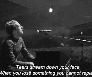 coldplay, tears, and fix you image