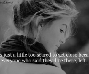quotes, scared, and sad image