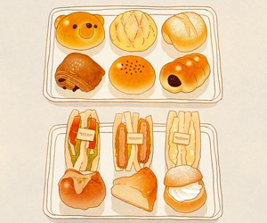 food, anime, and art image