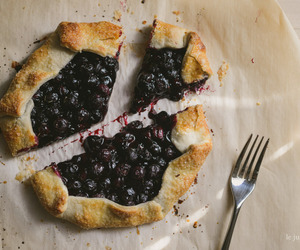 blueberry, crust, and galette image