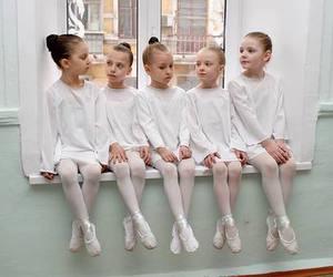 ballerina, girl, and ballet image
