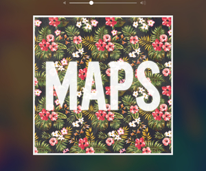map, maroon 5, and music image