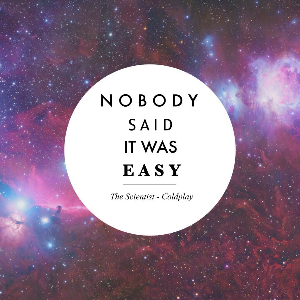 Coldplay The Scientist Nobody Said It Was Easy
