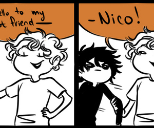 funny, percy jackson, and nico di angelo image
