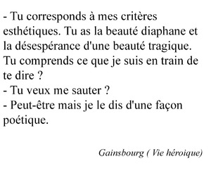 paris, quote, and serge gainsbourg image