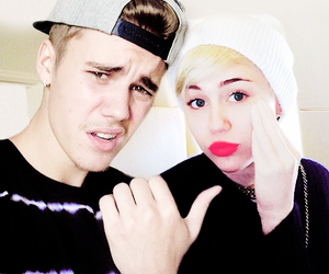 cyrus, justin, and bieber image