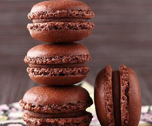 chocolate, macaroons, and delicious image