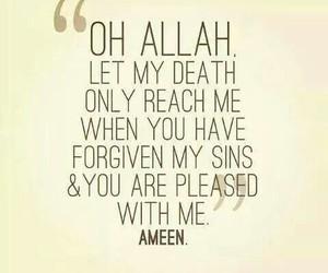 allah, sin, and forgive image