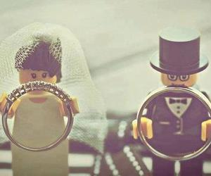 wedding, rings, and lego image