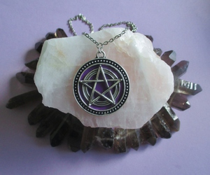 crystals and pentagram image