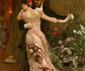 art, dance, and couple image