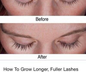 lashes, makeup, and longer lashes image