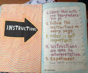 keri smith, wreck this journal, and instructions page image