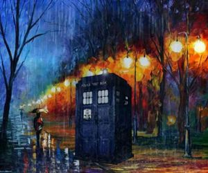 doctor who, tardis, and painting image