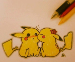 draw, pikachu, and cute image