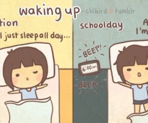girl, wake up, and chibird image
