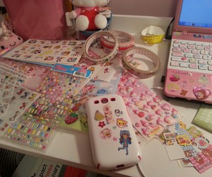 sticker, kawaii, and pink image