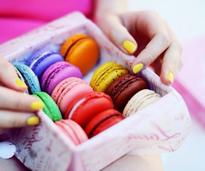 food, colorful, and macaroons image