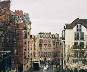 city, vintage, and house image
