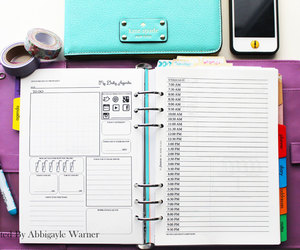 diary, filofax, and planner image