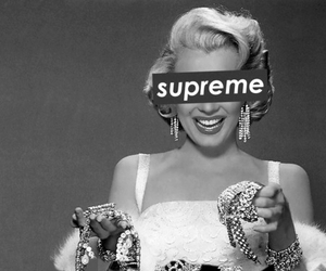 supreme and Marilyn Monroe image