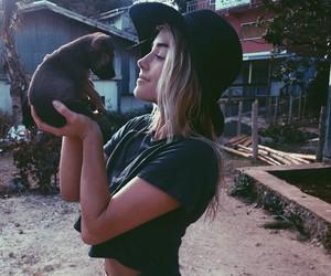 girl, style, and dog image