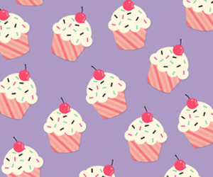 cupcake, background, and wallpaper image