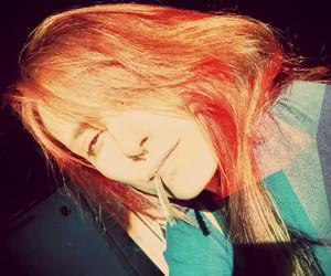 girl, sad, and weed image